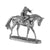 Silver Horse & Jockey - Height 26.5cm-Silverbasket