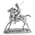 Silver Polo Player - Height 33cm-Silverbasket