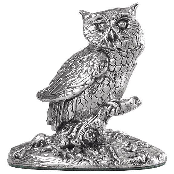 Silver Owl - Height 5.8cm-Silverbasket