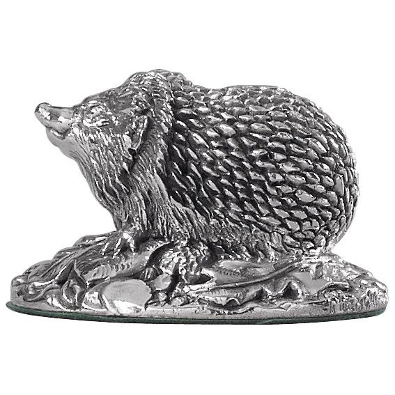 Silver Hedgehog - Height 3.4cm-Silverbasket