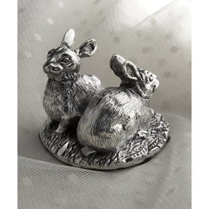 Silver Rabbits - Height 4.9cm-Silverbasket