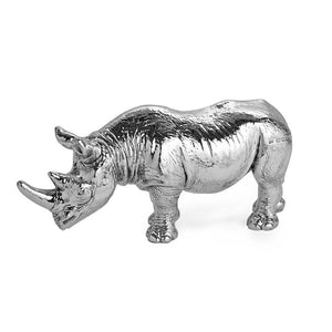 Silver Rhinoceros – Height 6.5cm-Silverbasket