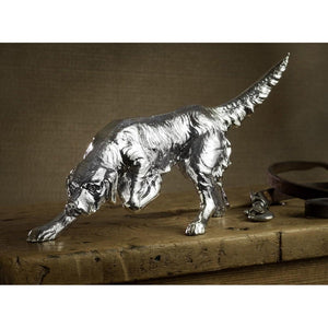 Silver Setter Dog - Height 11.5cm-Silverbasket-Silverbasket