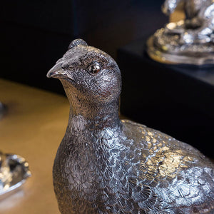 Silver Grouse - Height 23cm-Silverbasket