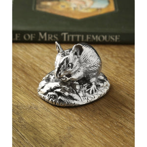 Silver Mouse - Height 4.2cm-Silverbasket