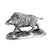 Sterling Silver Wild Boar - Height 10cm-Silverbasket