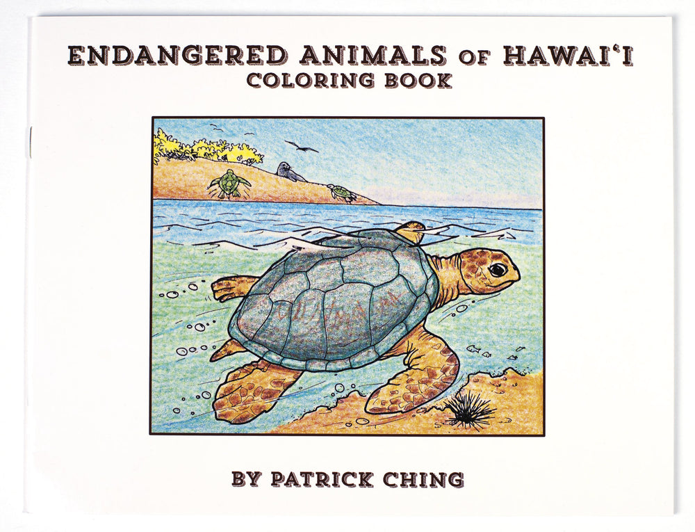 Endangered Animals of Hawaii Coloring Book