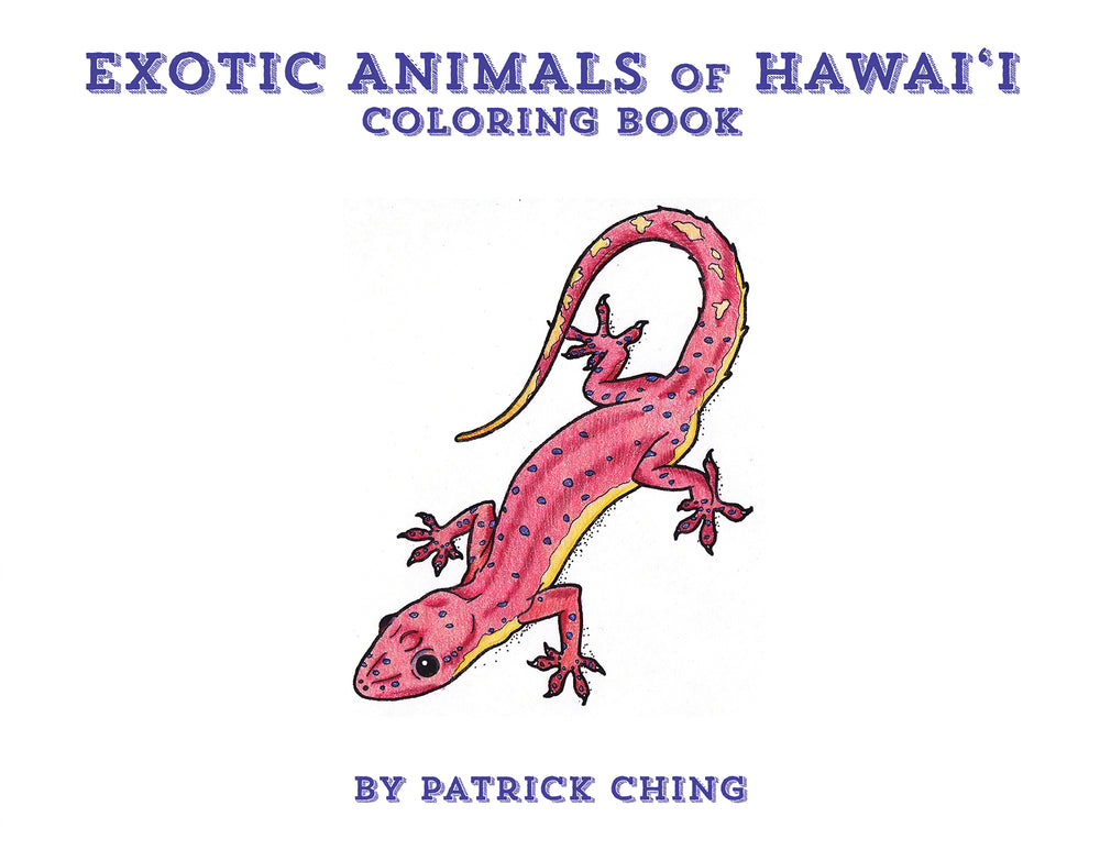 Exotic Animals in Hawaii Coloring Book
