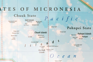 Map of Micronesia - Flat map