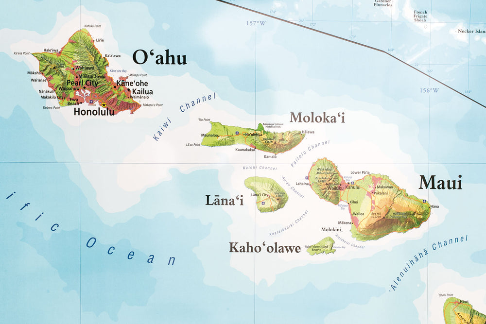 State of Hawaii Wall Map (Roller)