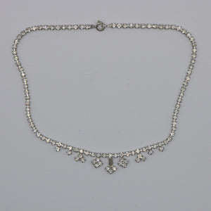 Vintage 1950s original clear rhinestone necklace