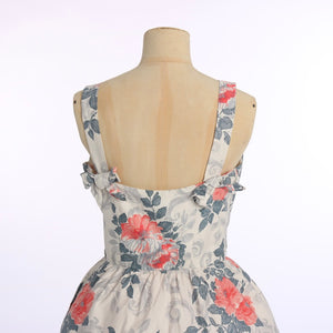 Vintage 1950s original Horrockses fashions floral print cotton dress UK 8 US 4 XS S