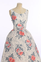 Load image into Gallery viewer, Vintage 1950s original Horrockses fashions floral print cotton dress UK 8 US 4 XS S