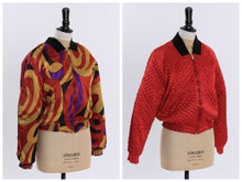 Load image into Gallery viewer, Vintage 1980s original deadstock reversible bomber jacket by Alain Cannelle UK 10 US 6 S M