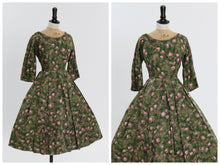 Load image into Gallery viewer, Vintage 1950s original floral print cotton dress by Melbray UK 6 US 2 XS