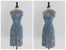 Load image into Gallery viewer, Vintage 1950s original novelty abstract print rayon jersey dress by Carol Brent UK 8 10 US 4 6 XS S