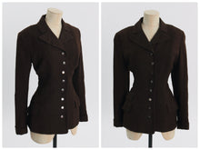 Load image into Gallery viewer, Vintage 1940s original brown flecked wool jacket by Frank and Seder Pittsburg UK 8 10 US 4 6 S