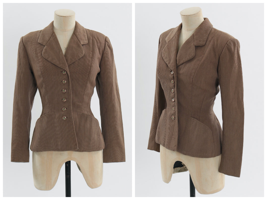 Vintage 1940s 1950s original tailored jacket Flano Vina del Mar UK 6 8 US 2 4 XS