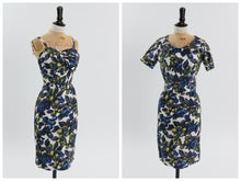 Load image into Gallery viewer, Vintage 1950s original floral wiggle dress and matching bolero UK 4 6 US 2 4 XXS