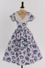 Load image into Gallery viewer, Vintage 1950s original cotton floral print dress by Linzi Line UK 10 12 US 6 8 S M