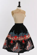 Load image into Gallery viewer, Vintage 1950s original novelty harbour scenic print cotton skirt UK 6 US 2 XS