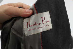 Vintage 1950s original Hector Powe grey suit jacket UK 16 US 12 L