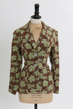 Load image into Gallery viewer, Vintage 1970s original novelty grape print Harrods jacket UK 8 10 US 4 6 S