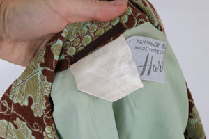 Vintage 1970s original novelty grape print Harrods jacket UK 8 10 US 4 6 S
