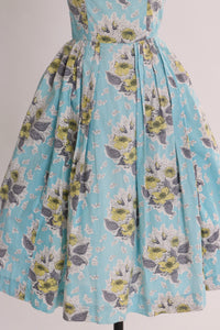 Vintage 1950s original floral print cotton Horrockses fashions dress UK 6 8 US 2 4 XS S