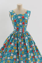 Load image into Gallery viewer, Vintage 1950s original Arlby novelty print cotton dress UK 8 10 US 4 6 S