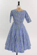 Load image into Gallery viewer, Vintage 1950s original California Cottons floral print cotton dress UK 10 US 6 S M