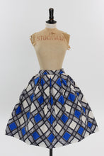 Load image into Gallery viewer, Vintage 1950s original novelty diamond check skirt by Gor Ray UK 8 US 4 XS S