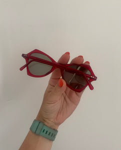 Vintage 1950s original red sunglasses with glass lenses