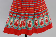 Load image into Gallery viewer, Vintage original 1950s novelty cameo print cotton skirt crinoline ladies UK 4 6 US 0 2 XXS