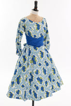 Load image into Gallery viewer, Vintage original 1950s Rodney floral rose print cotton dress UK 10 12 US 6 8 S M