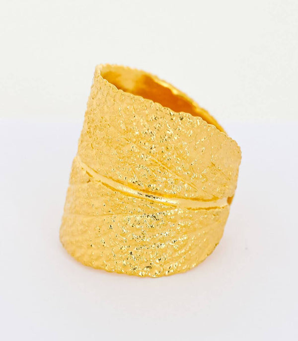 Ring Gold Salbei Gr. 50