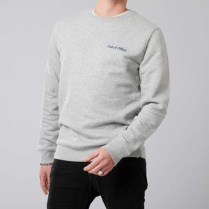 """Out of Office"" Sweatshirt unisex CLOUD - rosewood - Minimalistic Homes"