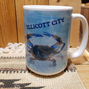 "ELLICOTT CITY ""Maryland Crab"" Mug - 15 oz"