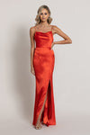 Angel Cowl Satin Gown Bariano By Daniella Boutique