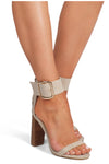 Lamba Natural Linen Heel Billini By Daniella Boutique