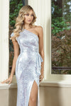 Yasmin Asymmetric Sequin Gown Bariano By Daniella Boutique