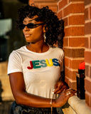 Jesus Chenille Patch Tee - White - You9ted