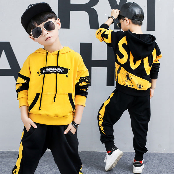 Boy's hooded sports suit