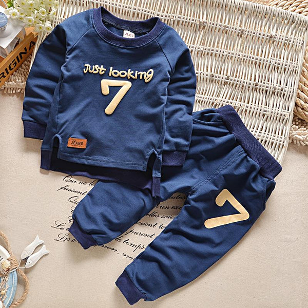 Baby cotton long-sleeved trousers two-piece suit