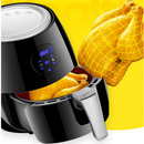 Smart touch screen household oil-free electric fryer fries machine