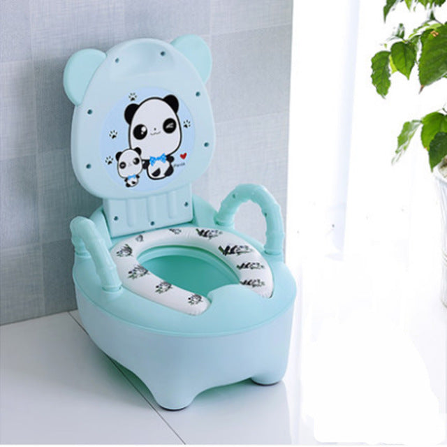 Children's potty baby toilet seat back portable comfort basin