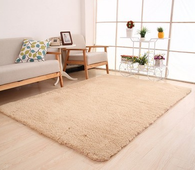 Living Room Rug Area Solid Carpet Fluffy Soft Home Decor White Plush Carpet Bedroom Carpet Kitchen Floor Mats White Rug Tapete (China)