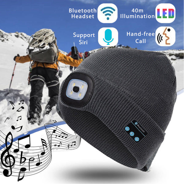 Lighted Bluetooth Knit Hat