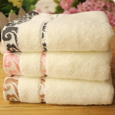 High quality pure cotton crepe-free jacquard Xiangyun thickening face towel