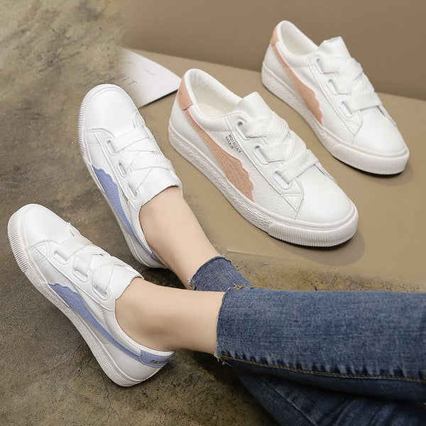 Korean small white shoes girls leisure breathable board shoes flat college students shoes campus style